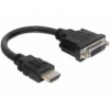 DELOCK Delock Adapter HDMI male - DVI 24+1 female 20 cm