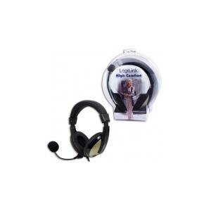 LogiLink Kényelmes sztereó fejhallgató