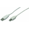 LogiLink USB Cable, USB 2.0,2X male, grey,2,00m