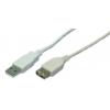 LogiLink USB Cable,USB 2.0, male/female, grey,5m