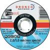 Dronco Szigetelő tárcsa, 125 MM INOX, Dronco