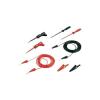 SKS Hirschmann PMS 2 1000mm hosszú 2mm-es egymásba toldható dugóval ellátott többfunkciós fekete-piros mérőkábel készlet, mérőzsinór készlet, műszerzsinór készlet