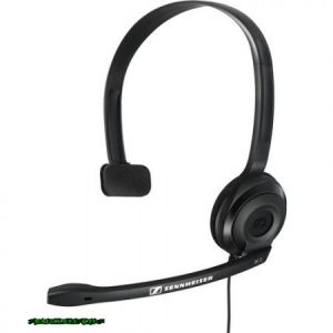 Sennheiser PC 2 Chat Headset Headset, Féloldalas, 3.5mm, Kábel:2m, 32Ohm, 42 - 17000Hz, Mikrofon, Black