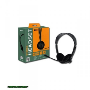Canyon CNR-FHS04 Headset Black Headset, 2.0, 3.5mm, Kábel:2, 3m, 32Ohm, 20 - 20000Hz, Mikrofon, Black