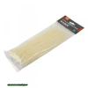 kábelkötegelő 2,5×100mm 100db, fehér nylon;