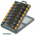 órás csavarhúzó klt. 15db, két komponensű ergonomikus markolat, műanyag tartóban