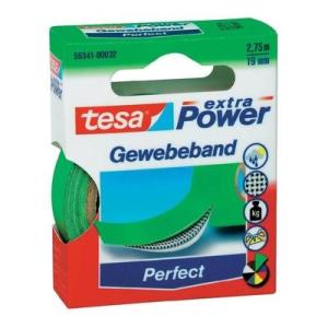 Tesa Ragasztószalag, szövet, zöld, 19MM, tesa® EXTRA POWER