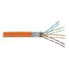 Digitus Hálózati kábel, CAT 7, duplex 2 x 4 x 2 mm² Narancs Digitus