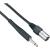 Paccs Paccs mikrofonkábel XLR apa/ 6,3 jack dugó, 10 m, fekete