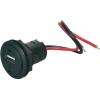 ProCar ProCar autóba építhető 12V USB töltő átalakító, kerek, 12V 5V 1A