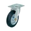 Gumi kerék, acéllemez forgóvillás, 80 MM,felfogótalppal UBP