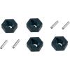 Reely Reely 1:10 kerék hatszög, 12/2 mm, fekete, V21071