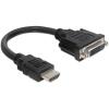 DELOCK Adapter HDMI male - DVI 24+1 female 20 cm 65327