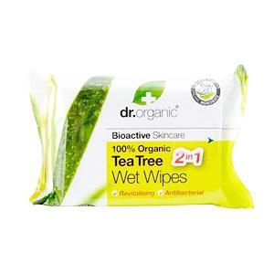 Dr. Organic Tea Tree Arctisztító kendő 20 db női