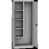 KSPS 02 U tisztítószer tároló szekrény 4 fix polc, akasztók, vödörtart