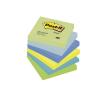 3M/POSTIT Öntapadó jegyzettömb, 76x76 mm, 3M POSTIT, álmodozó színek jegyzettömb