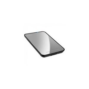 """Sharkoon Külső HDD Ház 2.5"""" - QuickStore Portable (ezüst; max 9, 5mm 2, 5"""" Sata HDD - USB csatl.; tükör polírozott felső)"""