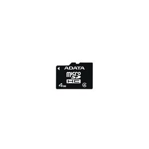 ADATA 4GB SD Micro Kártya SD Átalakítóval SDHC Class 4 AUSDH4GCL4-R Micro SD memóriakártya