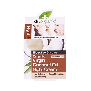 Dr. Organic Coconut Oil Éjszakai krém 50 ml női