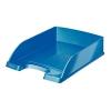 Leitz Plus Metal irattálca, műanyag, metálkék