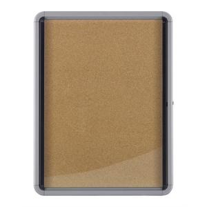 NOBO beltéri fali vitrin, parafa hátlappal /6 x A4/