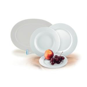 """ROTBERG Süteményes tál, porcelán, 33 cm átmérőjű, ROTBERG """"Basic"""", fehér"""