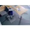 RS OFFICE Székalátét, szőnyegre, E forma, 150x120 cm, RS OFFICE