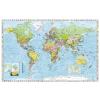 Stiefel Falitérkép, 100x140 cm, fémléces, Föld országai, STIEFEL