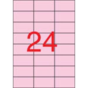 APLI Etikett, 70x37 mm, színes, APLI, pasztell rózsaszín, 480 etikett/csomag