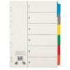 VIQUEL Regiszter, laminált karton, A4, 6 részes, VIQUEL