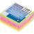 DONAU Öntapadó jegyzettömb, 50x50 mm, 5x50 lap, DONAU, neon szín