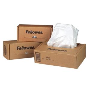 FELLOWES Hulladékgyűjtő zsák iratmegsemmisítőhöz, 98 literes kapacitásig, FELLOWES