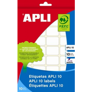 APLI Etikett, 105x149 mm, kézzel írható, APLI, 10 etikett/csomag