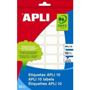 APLI Etikett, 25x40 mm, kézzel írható, APLI, 160 etikett/csomag