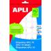 APLI Etikett, 10 mm kör, kézzel írható, APLI, 1260 etikett/csomag