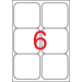 APLI Etikett, univerzális, 99,1x93,1 mm, kerekített sarkú, APLI, 600 etikett/csomag