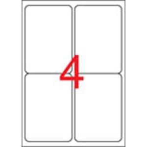 APLI Etikett, univerzális, 99,1x139 mm, kerekített sarkú, APLI, 400 etikett/csomag
