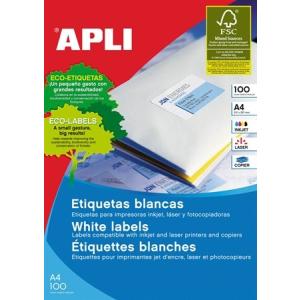 APLI Etikett, univerzális, 63,5x38,1 mm, kerekített sarkú, APLI, 2100 etikett/csomag