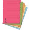 DONAU Elválasztó lap, karton, A4, mikroperforált, DONAU, narancssárga