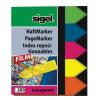 SIGEL Jelölőcímke, műanyag, 5x40 lap, 12x45 mm, SIGEL