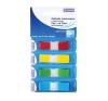 DONAU Jelölőcimke, műanyag, 4x35 lap, 12x45 mm, DONAU, vegyes szín etikett