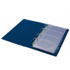 PANTA PLAST Névjegytartó, 200 db-os, gyűrűs, PANTAPLAST, kék
