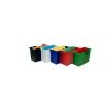 DONAU Függőmappa tároló, műanyag, 5 db függőmappával, DONAU, fekete