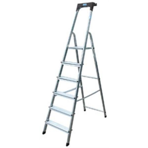 "KRAUSE Állólétra, 8 lépcsőfokos, alumínium, KRAUSE ""Safety"""