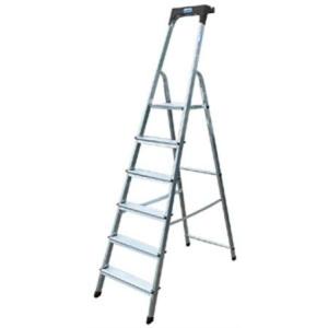 "KRAUSE Állólétra, 4 lépcsőfokos, alumínium, KRAUSE ""Safety"""