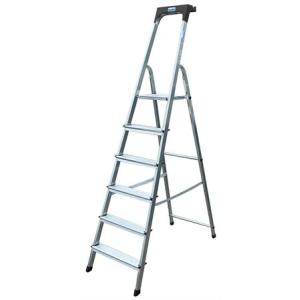 "KRAUSE Állólétra, 6 lépcsőfokos, alumínium, KRAUSE ""Safety"""