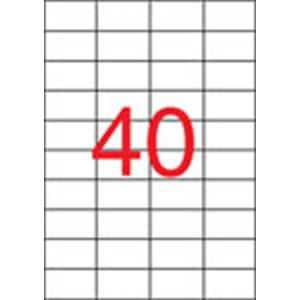 APLI Etikett, lézernyomtatókhoz, 52,5x29,7 mm, APLI, 10000 etikett/csomag