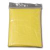 Esőkabát, poncsó szabású, átlátszó sárga