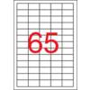 APLI Etikett, univerzális, 38x21,2 mm, eltávolítható, kerekített sarkú, APLI, 6500 etikett/csomag