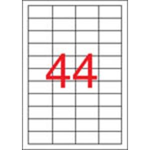 APLI Etikett, univerzális, 48,5x25,4 mm, eltávolítható, kerekített sarkú, APLI, 4400 etikett/csomag